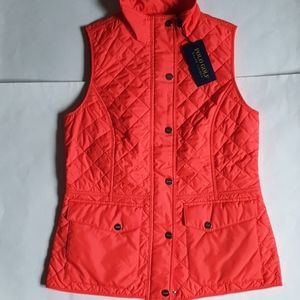 Polo ralph Lauren womens quilted vest big pony